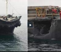 В Мраморном море судно из Украины столкнулось с болгарским судном (ВИДЕО)