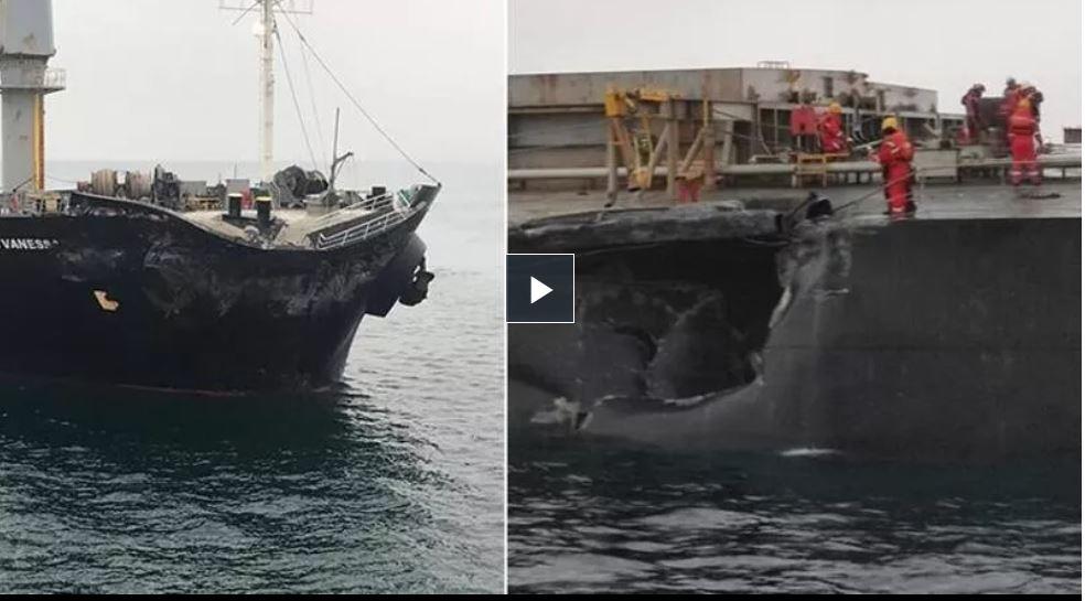 В Мраморном море судно из Украины столкнулось с болгарским судном (ВИДЕО) 3