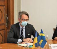 Николаев посетил Чрезвычайный и Полномочный Посол Королевства Швеция в Украине Тобиас Тиберг (ФОТО)
