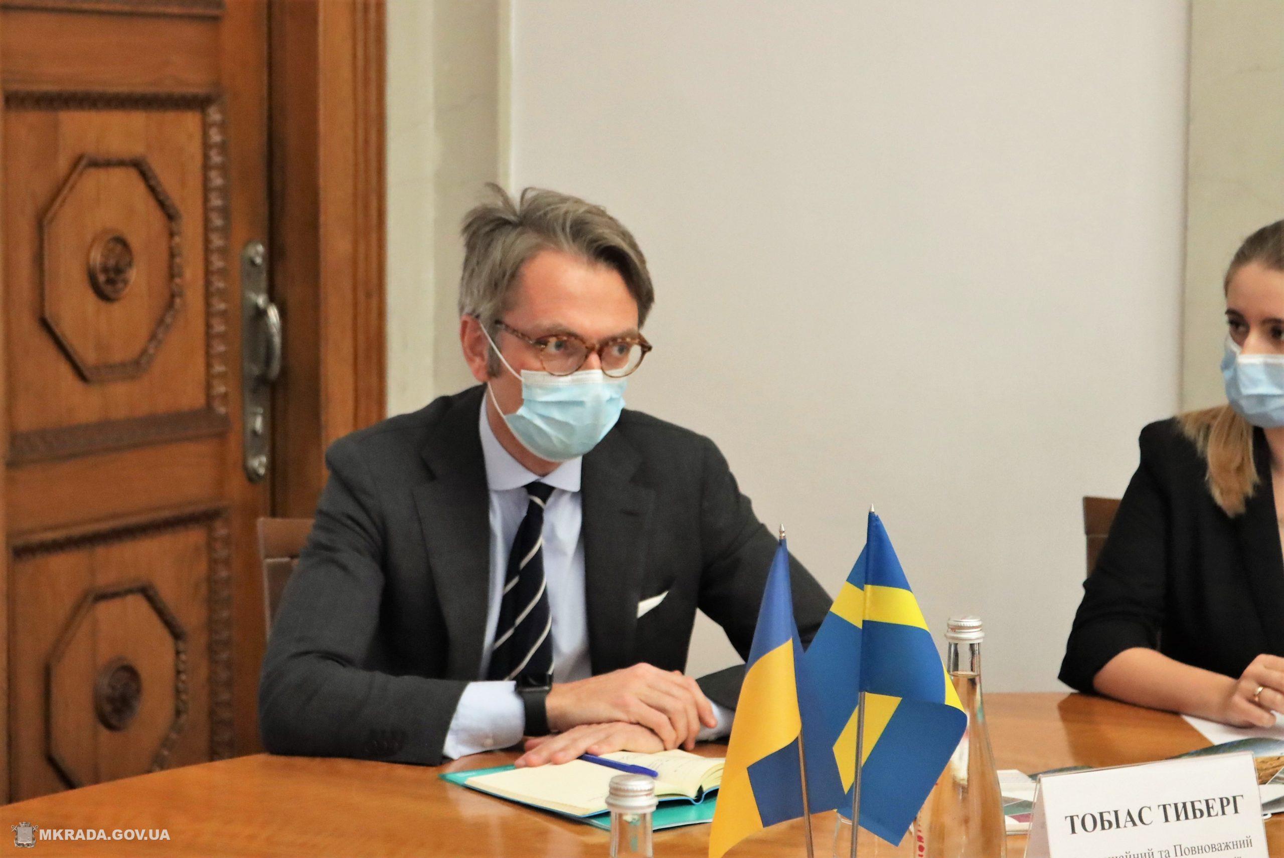 Николаев посетил Чрезвычайный и Полномочный Посол Королевства Швеция в Украине Тобиас Тиберг (ФОТО) 7