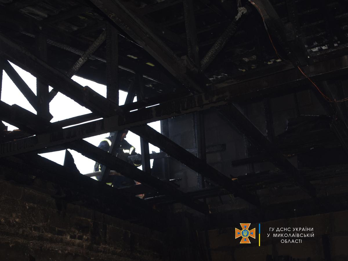 Большой пожар. В Николаеве горел столярный цех (ФОТО, ВИДЕО) 13
